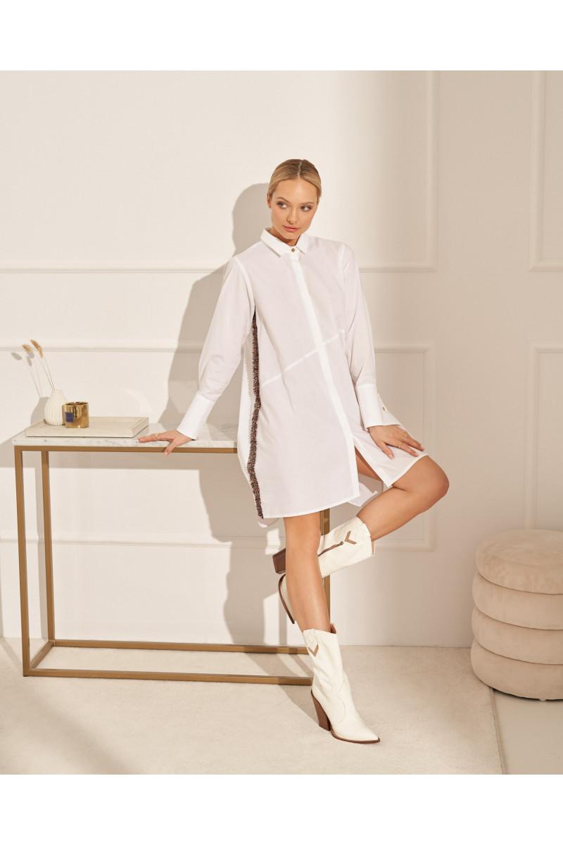 sukienka ETHNA - white